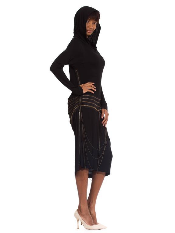 Women's Jean Paul Gaultier Jersey Zipper Dress with Hood For Sale