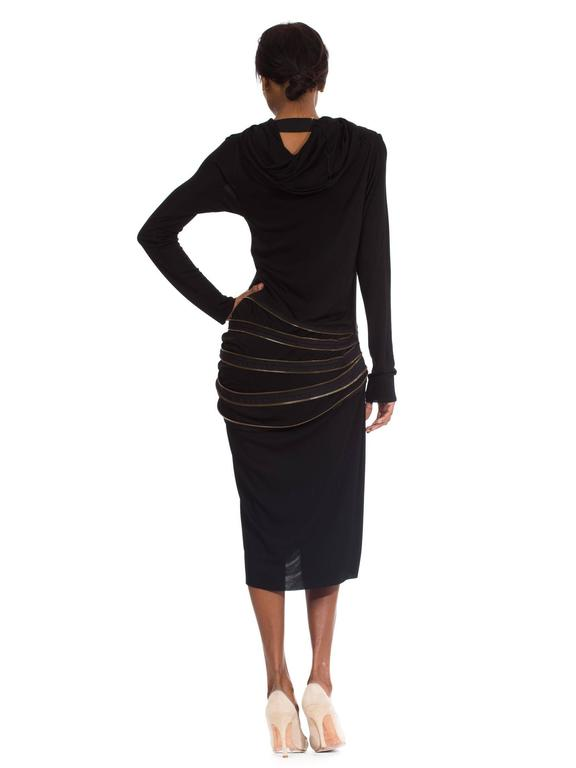 Jean Paul Gaultier Jersey Zipper Dress with Hood For Sale 1