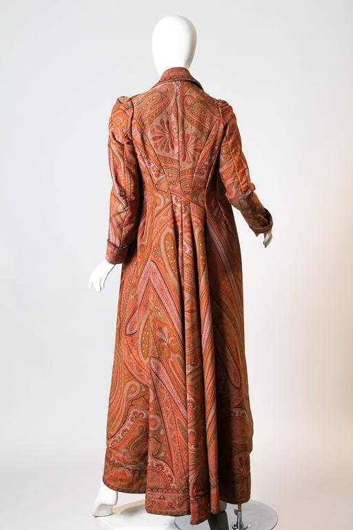 Victorian Paisley Coat For Sale 1