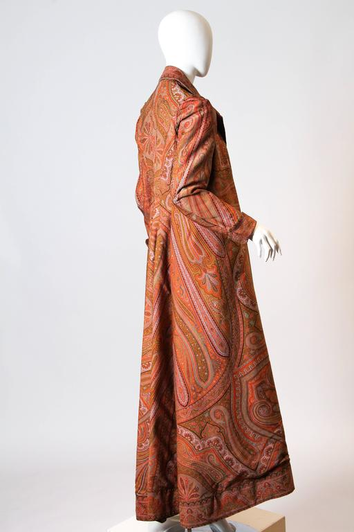 Women's Victorian Paisley Coat For Sale