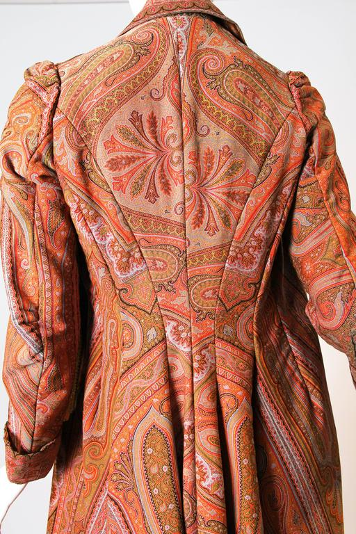 Victorian Paisley Coat For Sale 3