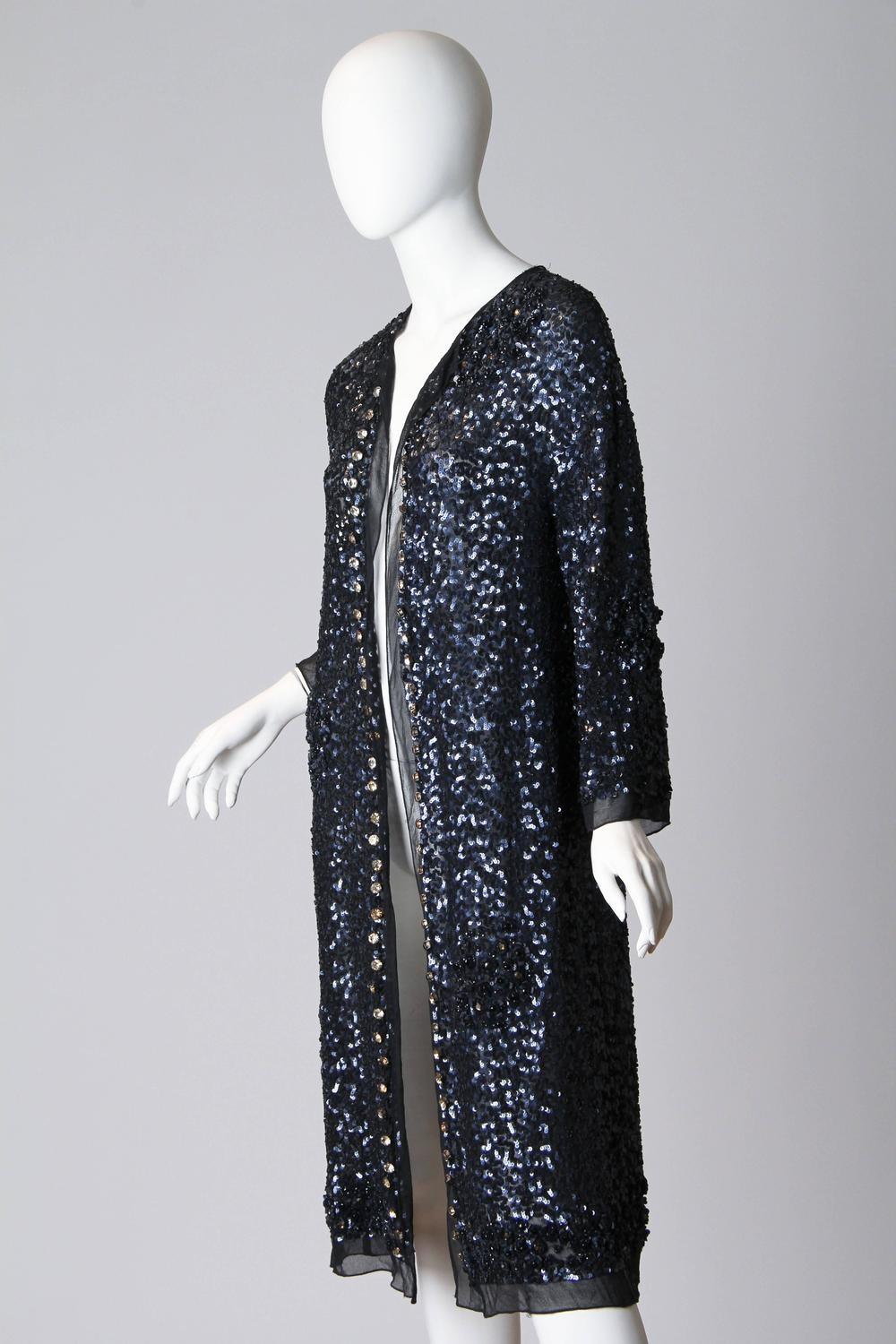 Fully Beaded Chiffon Evening Duster For Sale At 1stdibs