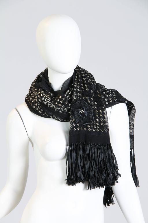 Exqusite Floral Embroidered Assuit Shawl For Sale 1