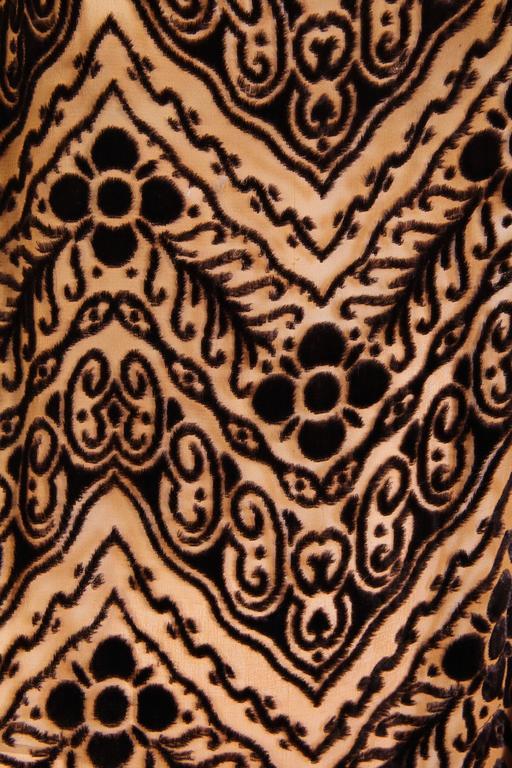 1920s Silk Devoré Velvet Dress For Sale 3