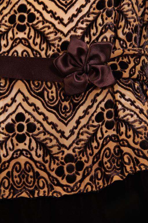 1920s Silk Devoré Velvet Dress For Sale 4