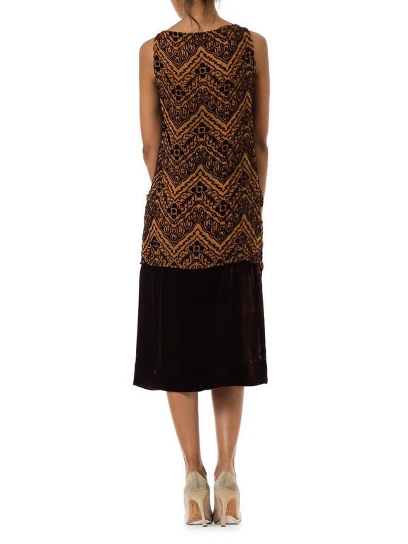 Women's 1920s Silk Devoré Velvet Dress For Sale