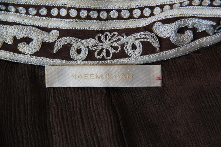 Naeem Khan Lace Embroidered Chiffon Dress For Sale 5
