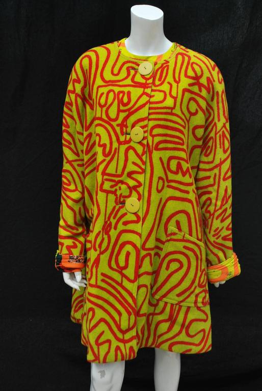 Stephen Sprouse Jacket and Dress a piece from Keith Haring collaboration 3