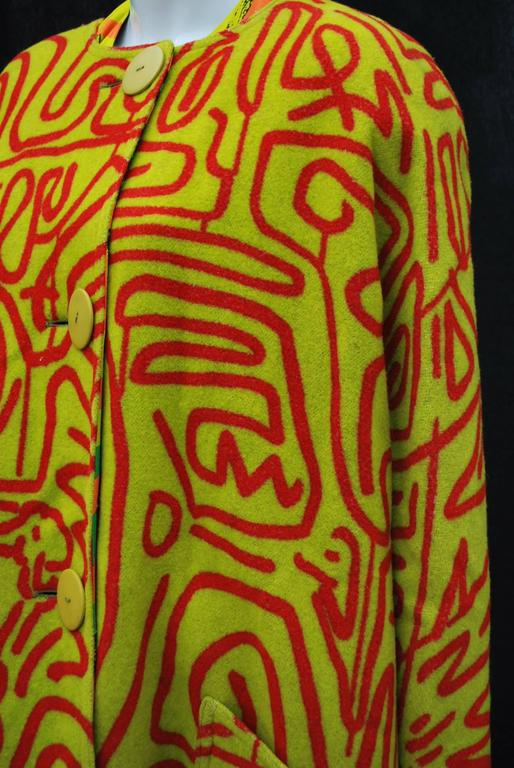 Stephen Sprouse Jacket and Dress a piece from Keith Haring collaboration 6