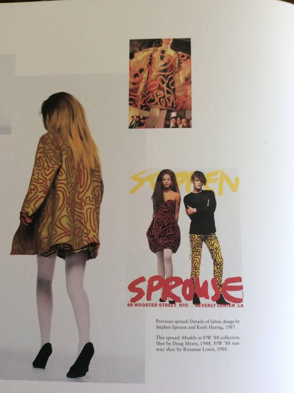 Stephen Sprouse Jacket and Dress a piece from Keith Haring collaboration 10
