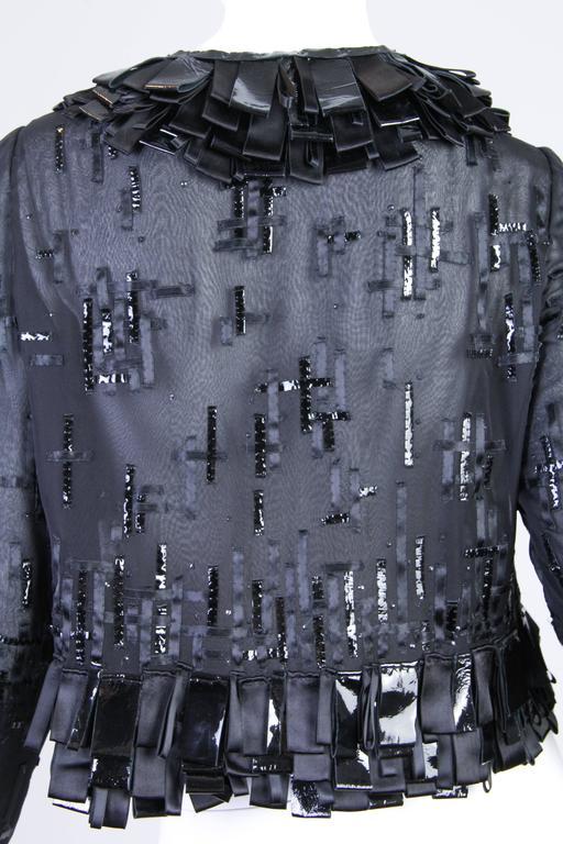 Sheer Oscar De LaRenta Embellished Jacket For Sale 1