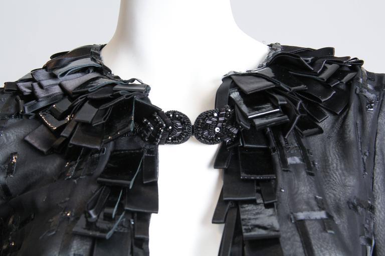 Sheer Oscar De LaRenta Embellished Jacket For Sale 3