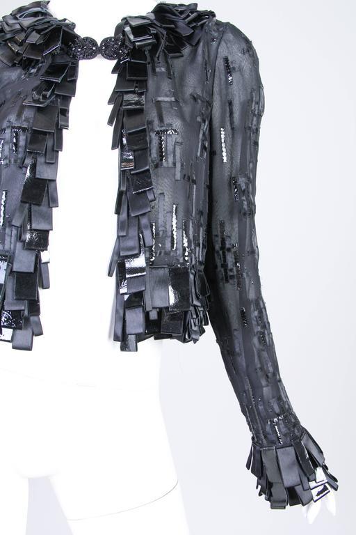 Women's Sheer Oscar De LaRenta Embellished Jacket For Sale