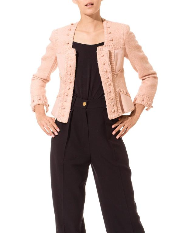 Tom Ford for Yves Saint Laurent Pink Wool Jacket 3