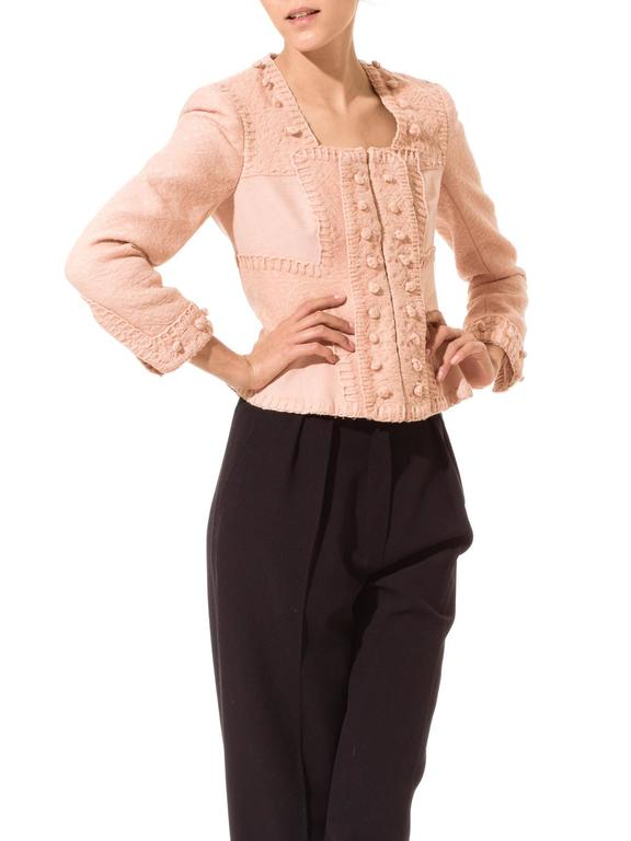 Tom Ford for Yves Saint Laurent Pink Wool Jacket 4