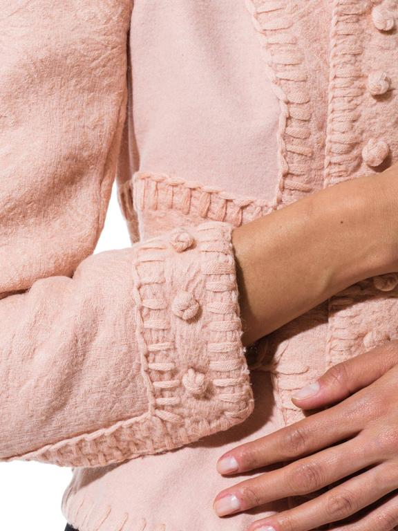 Tom Ford for Yves Saint Laurent Pink Wool Jacket 9