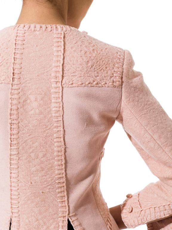 Tom Ford for Yves Saint Laurent Pink Wool Jacket 8