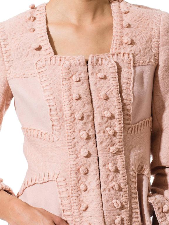 Tom Ford for Yves Saint Laurent Pink Wool Jacket For Sale 2