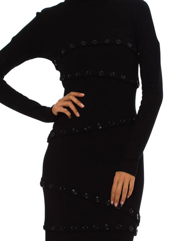 Dolce & Gabbana Black Button Dress For Sale 3