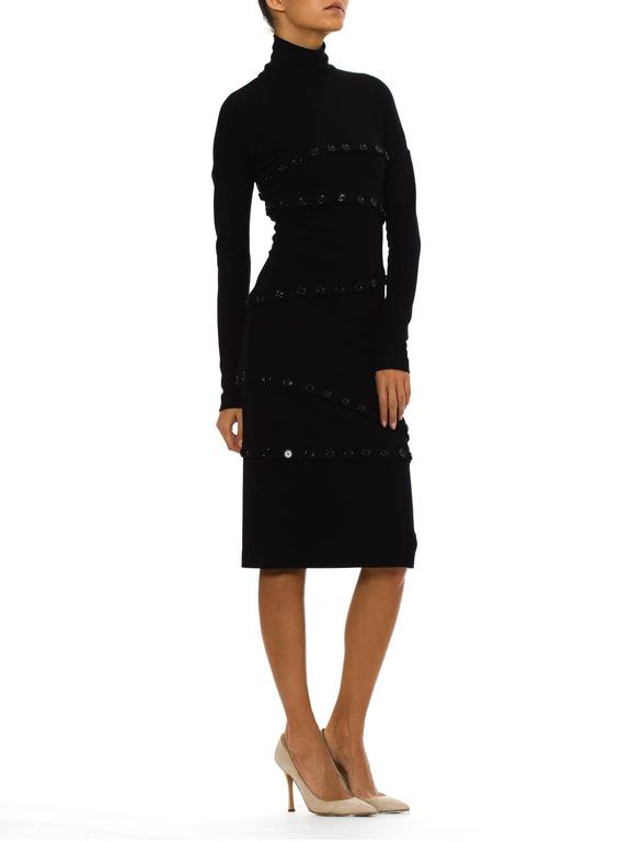 Women's Dolce & Gabbana Black Button Dress For Sale