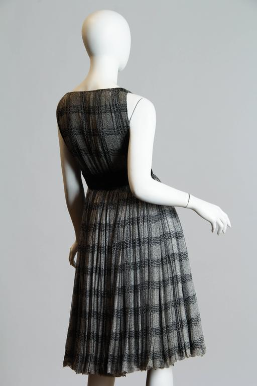 Gray Galanos for Bergdorf's Chiffon Dress For Sale
