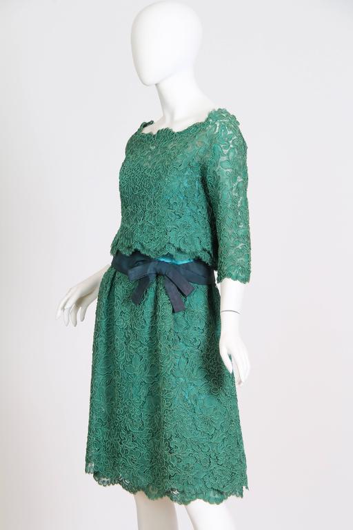 1950/60s Christian Dior New York Lace Dress 2
