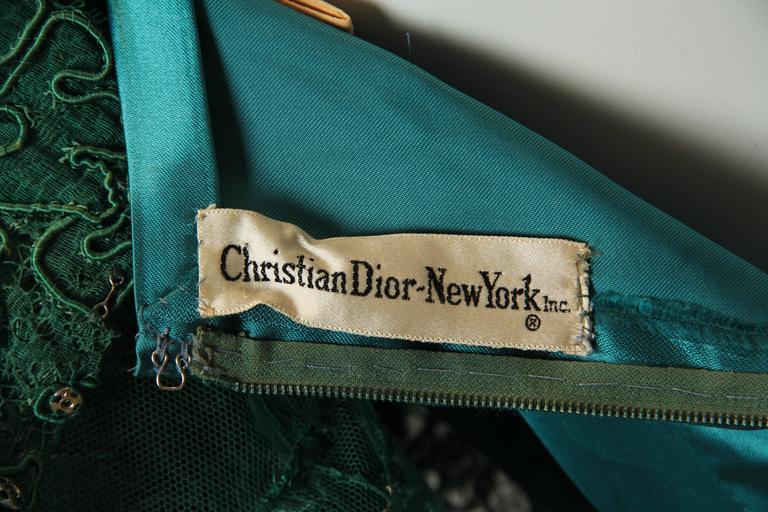1950/60s Christian Dior New York Lace Dress 10