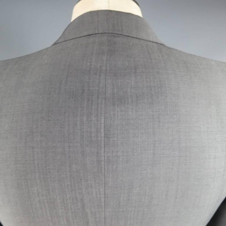 ALEXANDER MCQUEEN Men's 36 Short Gray Wool / Mohair Peak Lapel Sport Coat 7