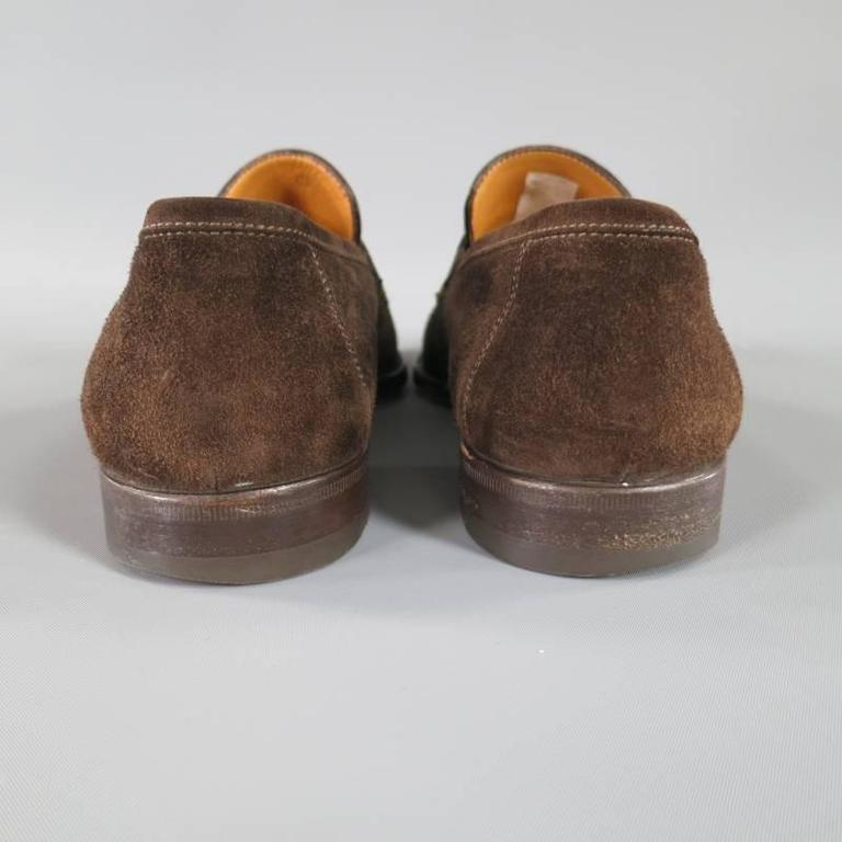 SUTOR MANTELLASSI Size 8 Brown Suede Penny Loafers 6