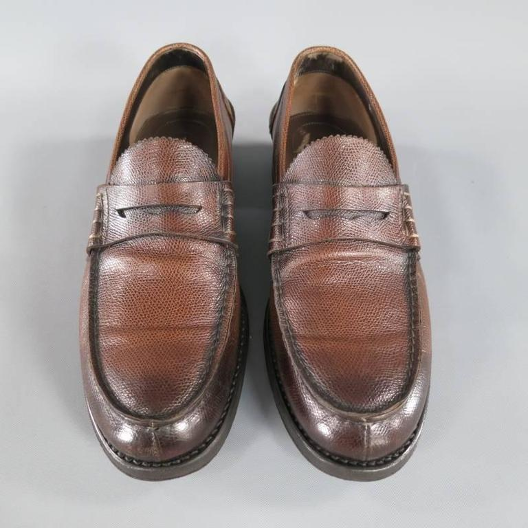 Tom Ford Size 10 Brown Leather Penny Loafers At 1stdibs