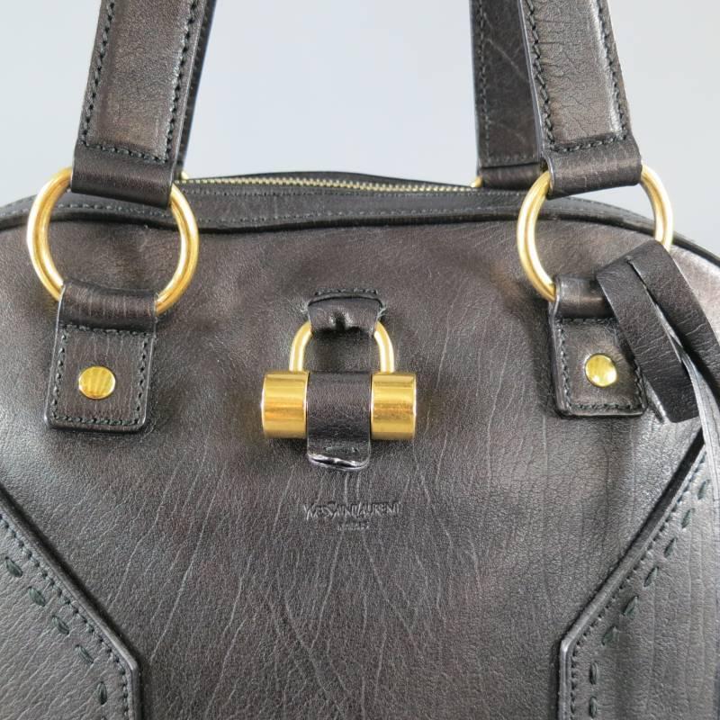 replica clutch bags - YVES SAINT LAURENT YSL MUSE Dark Brown Leather Tote Handbag at 1stdibs
