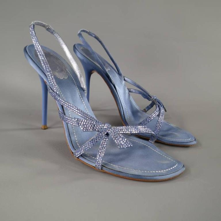 Light Blue Heels With Bow