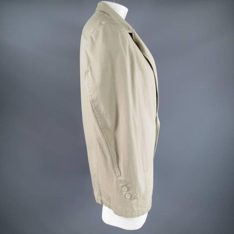 Yohji Yamamoto Y's Men's Khaki Cotton Sport Coat  For Sale 1