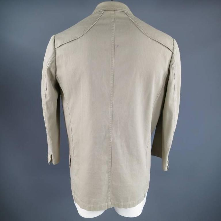 Yohji Yamamoto Y's Men's Khaki Cotton Sport Coat  For Sale 2