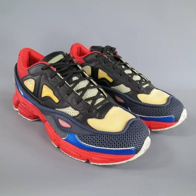 chaussures de sport fcb30 82fa3 RAF SIMONS X ADIDAS Size 12 Multi-Color Nylon OZWEEGO 2 Sneakers