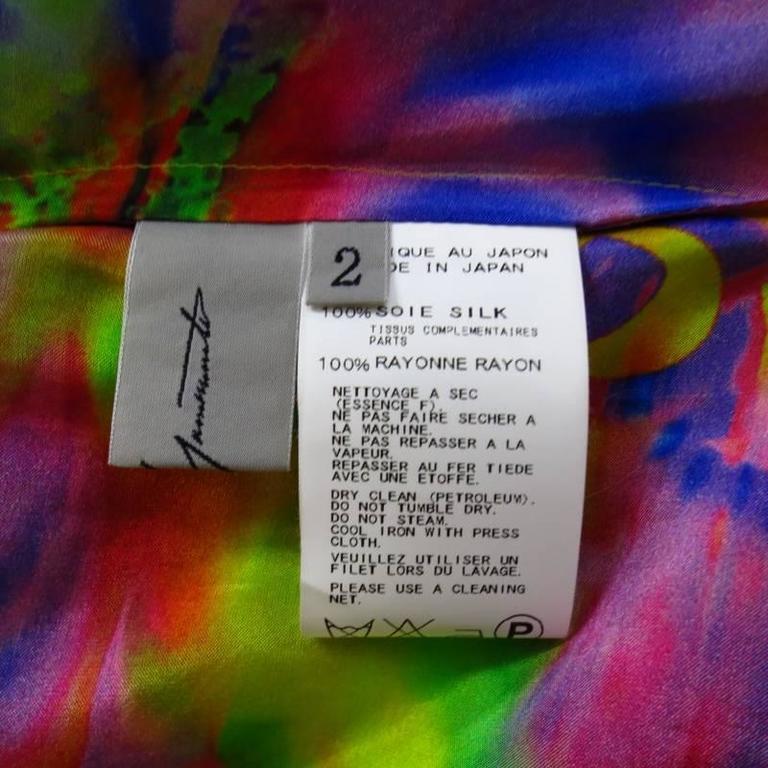 YOHJI YAMAMOTO Size M Psychedelic Glitch Damnation Print Draped Maxi Dress 2011 9