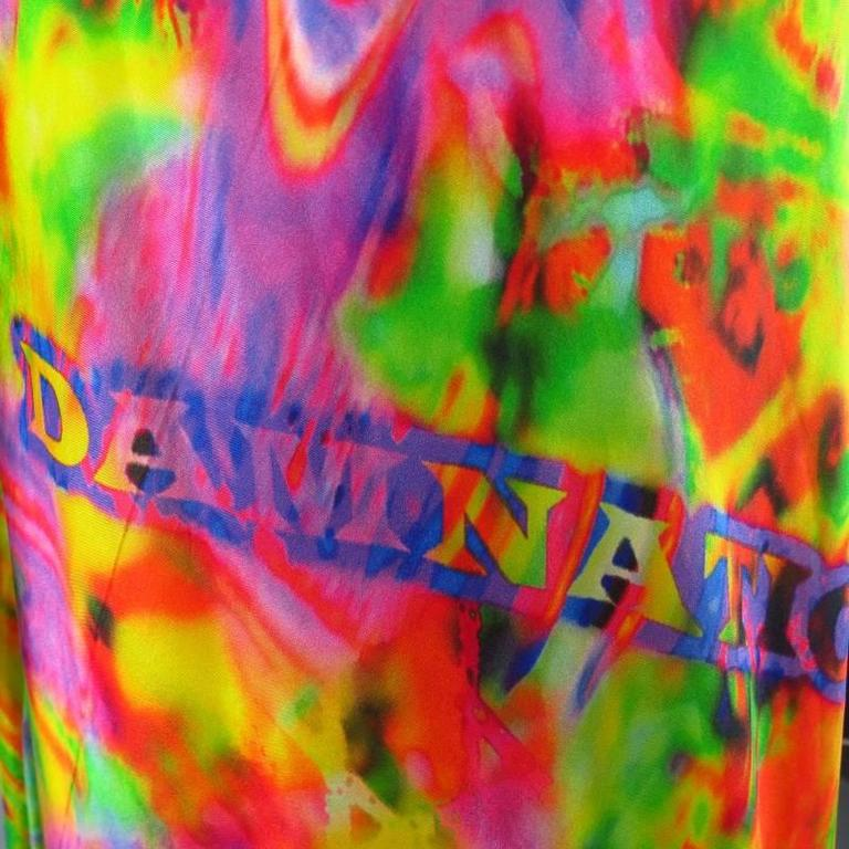 YOHJI YAMAMOTO Size M Psychedelic Glitch Damnation Print Draped Maxi Dress 2011 8
