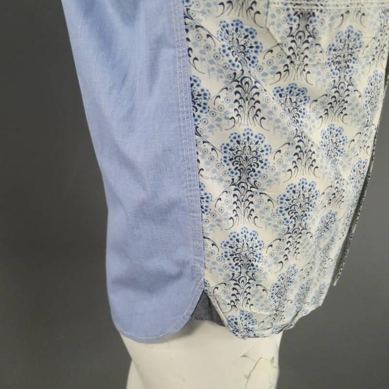 COMME des GARCONS Men's Size S Printed Patchwork Cotton Long Sleeve Shirt For Sale 3
