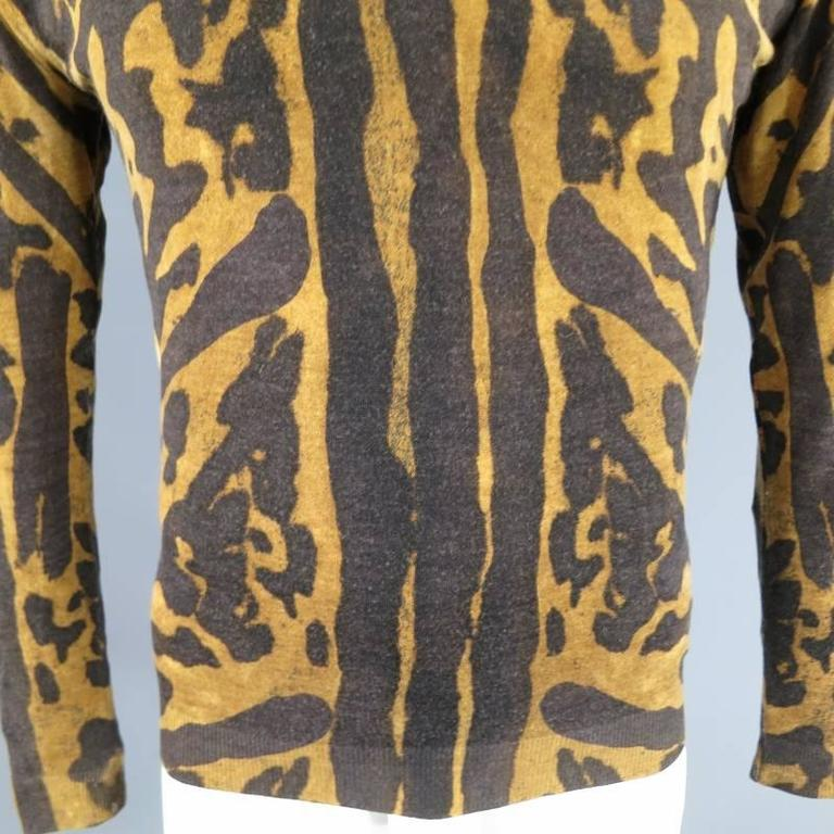 Mens Cheetah Print T Shirt