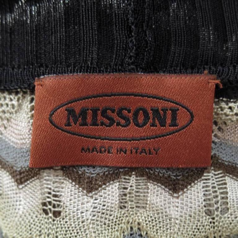 MISSONI Beige Brown Pink Grey & Black Striped Mesh Knit Cardigan Coat 10