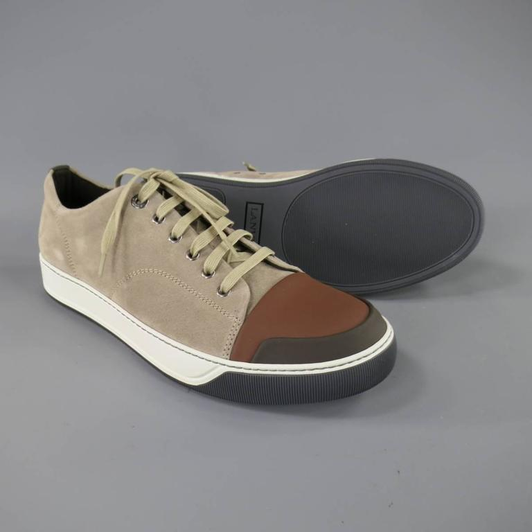 toe cap sneakers - Brown Lanvin ImHlWMKg