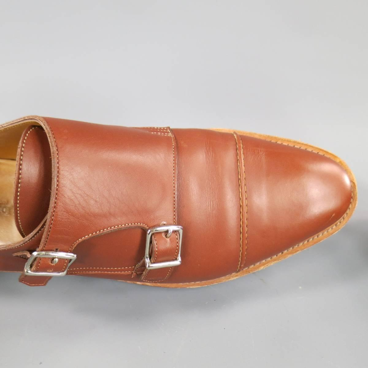 John Lobb William Ii Size 10 Men S Brick Leather Double