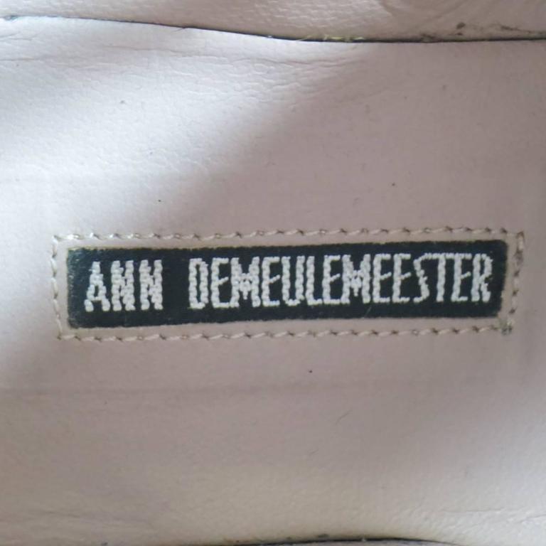 ANN DEMEULEMEESTER Size 8 Men's Purple Suede Crepe Sole Calf Boots For Sale 4