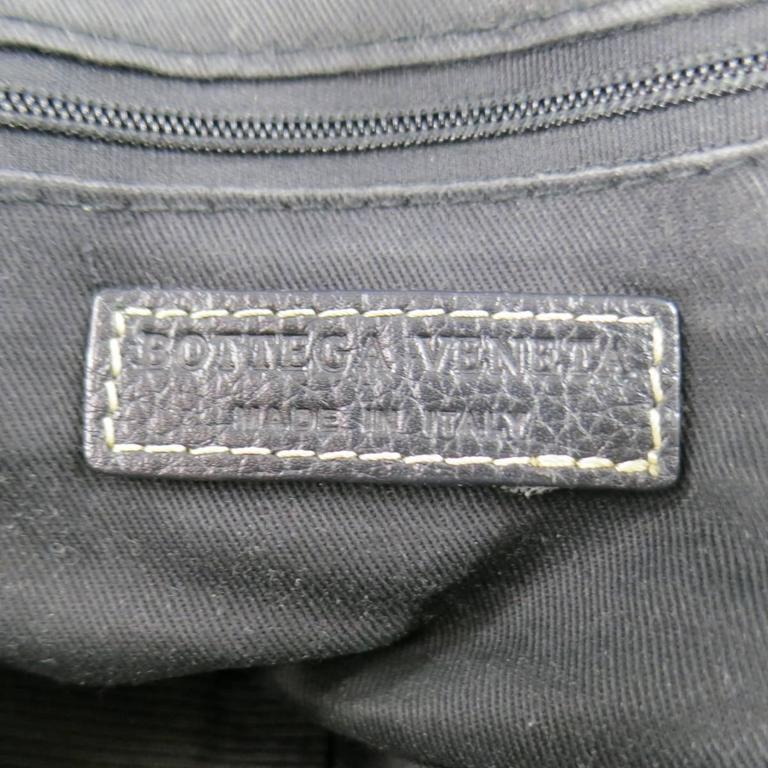 BOTTEGA VENETA Black Leather Gold Grommet Hoop Hobo Bag 9