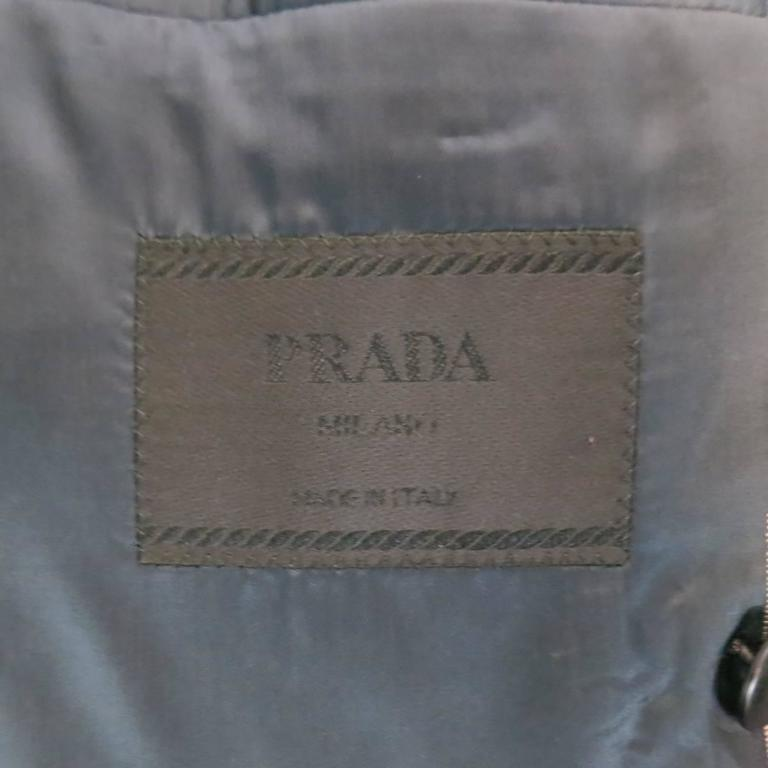 Prada 38 Regular Navy Pinstripe Peak Lapel Double Breasted Sport Coat 6