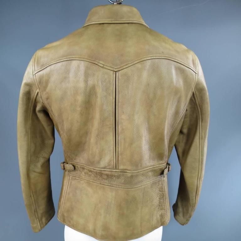 Men S Rrl By Ralph Lauren 42 Distressed Beige Leather