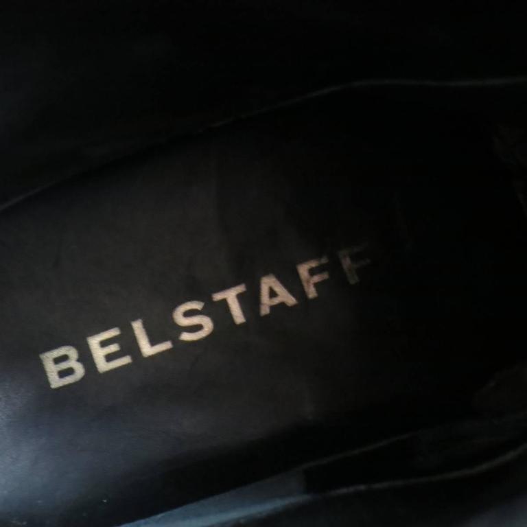 Men's BELSTAFF Boots - Size 7 Black Leather FULHAM MOTO Biker Boots For Sale 4