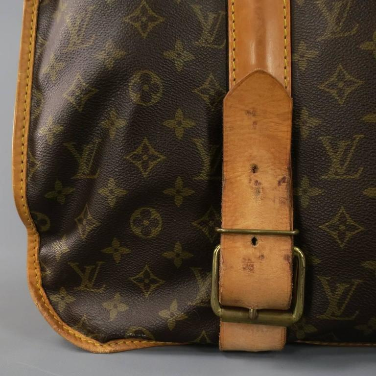 Vintage LOUIS VUITTON. LOUIS VUITTON Brown Monogram Canvas PORTABLE HOMME  Garment Travel Bag In Fair Condition ... b2bb31836f3af