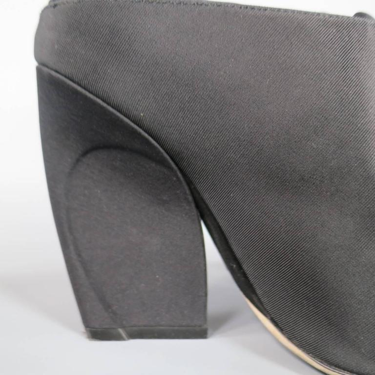 CHRISTIAN DIOR Size 8.5 Black Faille Open Toe Wrap Mules Resort 2015 5