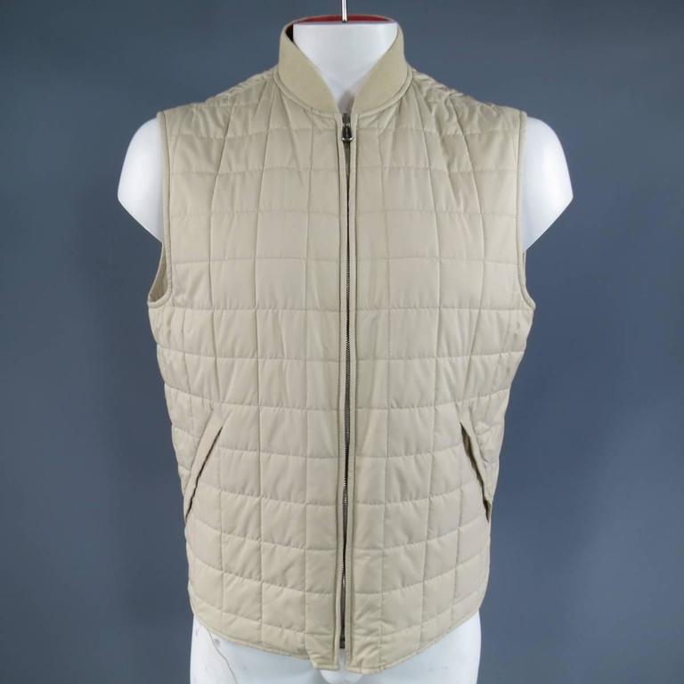 Beige Men's LORO PIANA Jacket 44 Khaki Twill Roadster Pebble Beach Concours D'elegance For Sale
